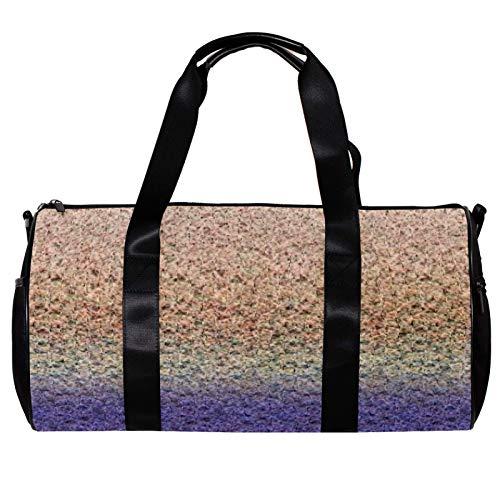 Anmarco Duffel Bag for Women Men Purple Yarn Sports Gym Tote Bag Weekend Overnight Travel Bag Outdoor Luggage Handbag