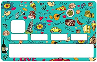 DECO-IDEES Credit Card Sticker - Bank Card, Italia, la Dolce vita in Italia - Personalize Your Credit Card with These Removable Stickers