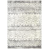 Maples Rugs Abstract Diamond Modern Distressed Large Area Rugs Carpet for Living Room & Bedroom [Made in USA], 7 x 10, Neutral