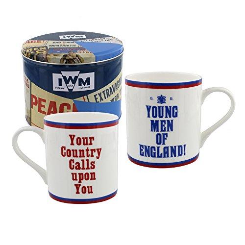 Young Men of England Your Country Calls Upon You - Juego de taza (lata), diseño del Museo Imperial de la Guerra