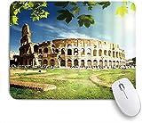 PATINISA Alfombrilla Raton Ordenador,Coliseo mundialmente Famoso Arquitectura decoración Italia Antiguo símbolo Romano Prado turista Cielo Soleado,Alfombrilla Suave Gaming para Ratón Adecuado