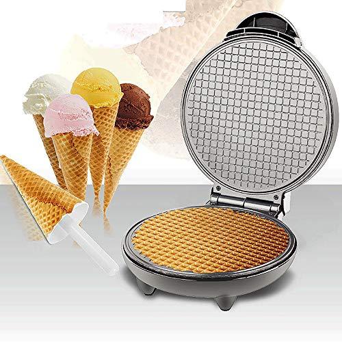 Máquina de panqueca, máquina de panqueca dupla face 8,3 pol. Multifuncional torradeira crocante de omelete máquina de cone de sorvete antiaderente fácil de limpar 220V