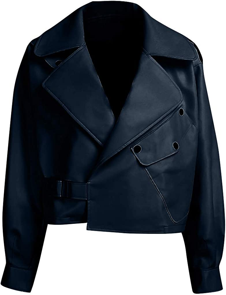 Biker Leather New products, world's highest quality popular! Max 63% OFF with Zipper for Fashion Outwear Street Coat Women