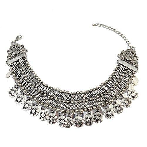 idealway placcato argento, 30 cm + 15 cm di catena regolabile