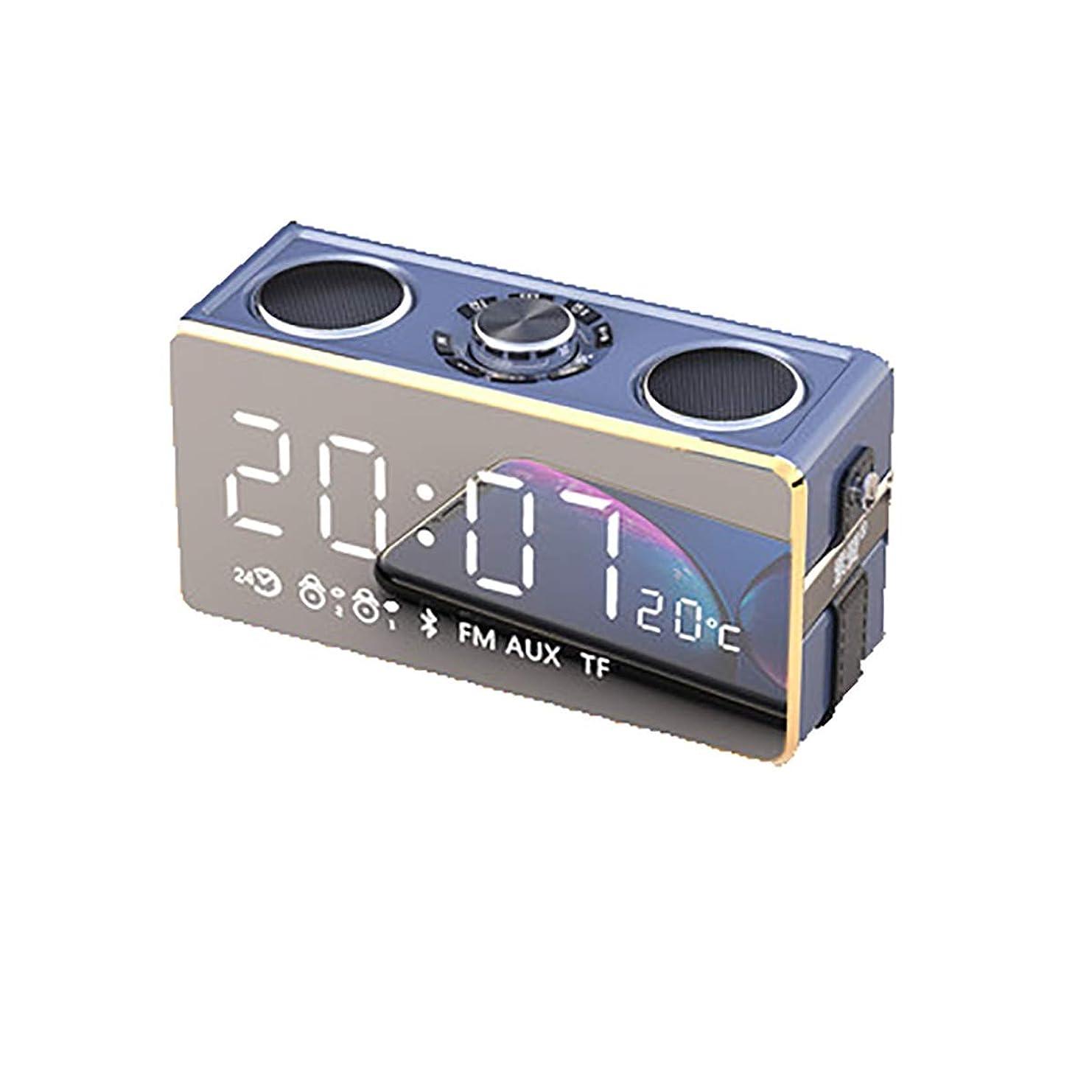 スイッチ惑星構築するTONGBOSHI ワイヤレスBluetoothスピーカー太りすぎサブウーファーホーム大量屋外の携帯電話のオーディオスマート3Dサラウンド小キャノンミニ車のポータブルインパクトラジオ付き目覚まし時計 (Color : Gold)