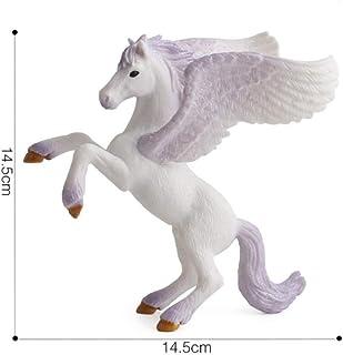 WANGXJ Trinket Myth Pegasus Fairy Tale Unicorn Flying Horse Unicorn Figurines Children Girl Toys Birthday Christmas Best Gift for Kids-F