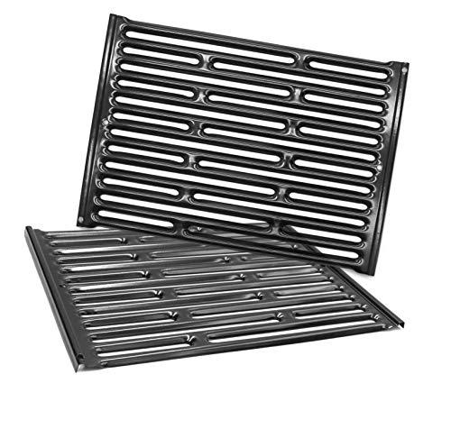 Htanch PG521 (2-Pack) 15' x 11 1/4' Porcelain Steel Cooking Grid Grates for Weber Genesis Silver A, Spirit E200,Spirit 500,Spirit 210 (2007-2012) Gas Grills, 7521 65905 7522 7523 65904