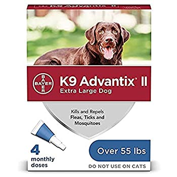 K9 Advantix II Flea and Tick Prevention for Extra-Large Dogs 1-Pack 4 Monthly Doses Over 55 Pounds