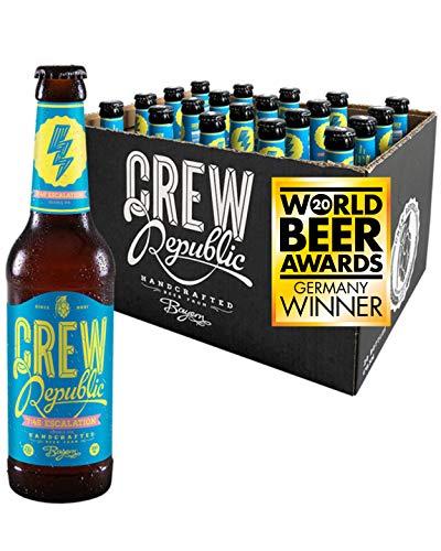 CREW Republic® Craft Bier 7:45 Escalation, Double India Pale Ale | World Beer Awards Gewinner Imperial IPA 2020 | Bierspezialität aus Bayern nach deutschem Reinheitsgebot (20 x 0,33l)