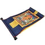 fegayu Diseño de Pintura de Desplazamiento Thangka Tibetano, Thangka Budista, Tapiz...