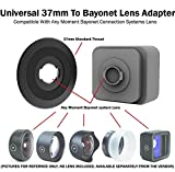 Universal Bayonet to 37mm Thread Adapter for Moment Lenses and DREAMGRIP, Beastgrip, Helium Core, and Other rigs with 37mm Thread