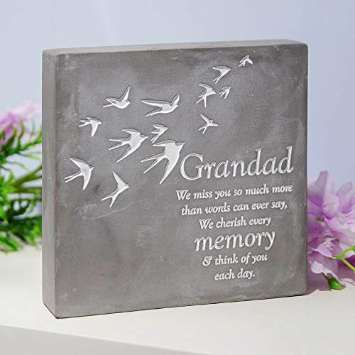 Thoughts of you Grandad Concrete Stone Remembrance Graveside Memorial Ornament