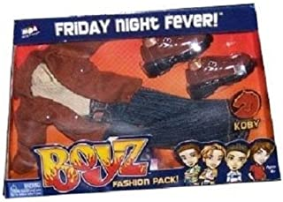 Bratz Boyz Friday Night Fever Fashion Pack For Koby with Stylin' Shirts, Pair of Pants, Jacket, Belt and Kickin' Snap-On Shoes