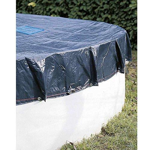 WerkaPro 10665 - Bâche de protection diam 6 m - Pour piscine ronde diam 5,4 m - Marine