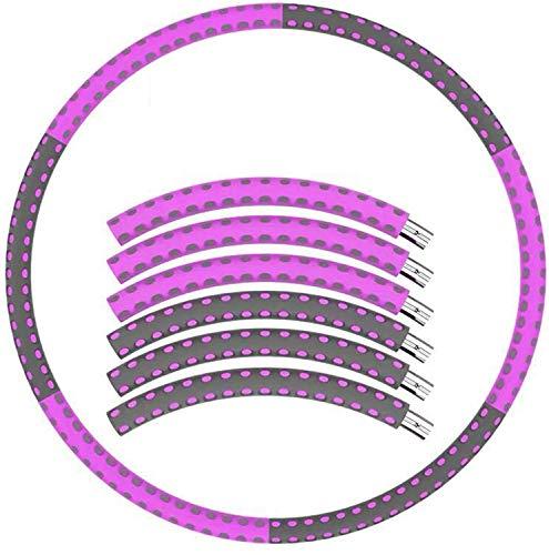 HACSYP Hula Hoop,Hoola Hoop Reifen Gewichteter Hula-Reifen Für Erwachsene |88cm 6 Abschnitte Abnehmbares Design Magenfettbrennkraftausrüstung