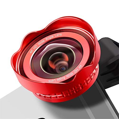Mobiele telefoon lens clip-on 180° lens & 0,45X HD 120° groothoek & 20X macro lens, HD mobiele telefoon lens set, camera lens kits voor Samsung, Huawei, HTC & de meeste smartphones, rood