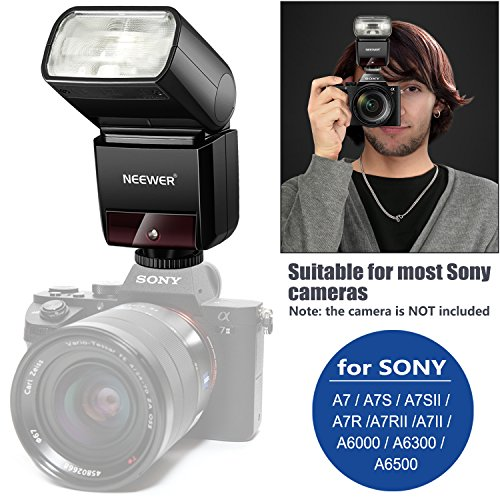 Neewer 2.4G HSS 1/8000s TTL GN36 Wireless Master Slave Flash Speedlite for Sony a9 a7III a7RIII a7II a7RII a7SII a7 a7R a7S a6500 a6300 a6000 a77II RX10II/III/IV Cameras with Hard Diffuser (NW400S)