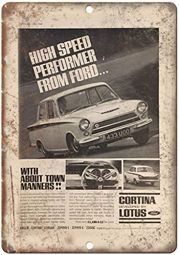 NOT Ford Cortina by Lotus Britan Decoración de la Pared Cartel de Metal Pintado Retro Hierro Estaño Carteles de Pared Decoración Placa Advertencia para Bar café Hotel Oficina Dormitorio Carnaval
