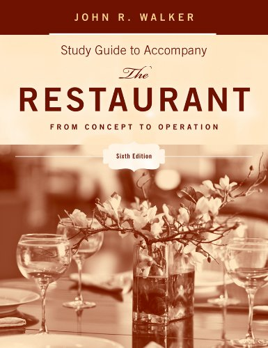 The Restaurant, Study Guide: From Concept to Operation