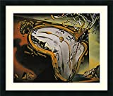 Framed Wall Art Print Melting Watch by Salvador Dali 25.62 x 21.62 in.