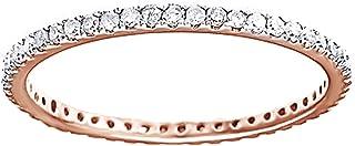 Fede nuziale Eternity in oro massiccio 10ct (0,5 ct) bianco con diamante naturale