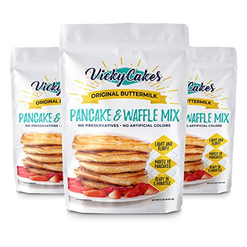 Original Pancake & Waffle Mix by Vicky Cakes | Light & Fluffy, Dairy-Free, Vegan-Friendly, Non-GMO | Pack of 3