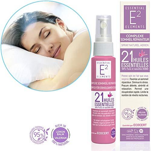 """E2 Complexe Sommeil Réparateur - Spray aérien naturel aux 21 huiles essentielles calme les tensions, la nervosité et diminue le stress""""efficacité prouvée"""""""