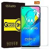 【2枚セット】QULLOO Moto G8 Power ガラスフィルム 強化ガラス 日本旭硝子素材 全面保護 硬度9H 飛散防止 指紋防止 自動吸着 気泡防止 Moto G8 Power/Moto G Power/Moto G Stylus液晶保護フィルム
