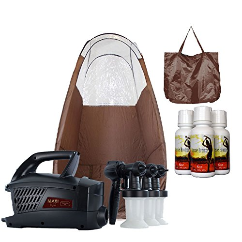 Maximist Evolution TNT HVLP Spray Tanning System with Brown Popup Tan Tent