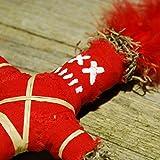 Wanga Doll - Muñeca de vudú con aguja e instrucciones de rituales (idioma español no garantizado), color rojo
