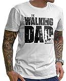 Stylotex Lustiges Herren Männer T-Shirt Basic | The Walking Dad | Geschenk für werdende Papas, Größe:XL, Farbe:Weiss (4101)