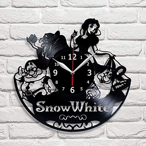 RaduPUSH discount Snow White Cartoon Vinyl Wall Handma Decor Clock Record 100% quality warranty!