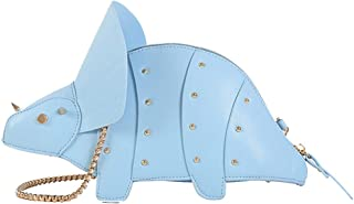 MILATA Dinosaur Shape Crossbody Shoulder Bag Women Pu Leather Rivet Chic Clutch Purse for Girls