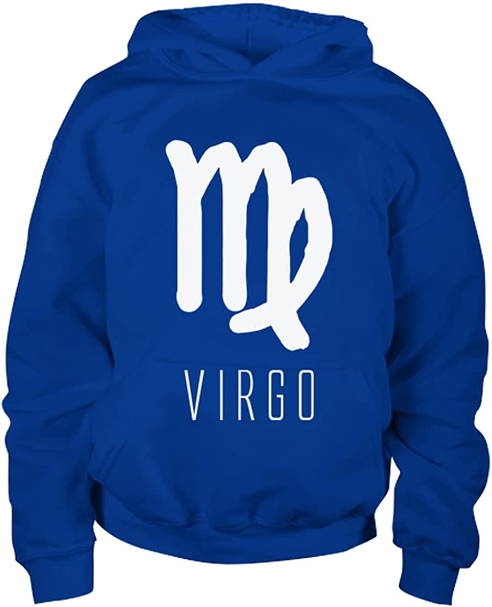 Virgo Zodiac Sign Girls Boys Youth Hoodie Royal
