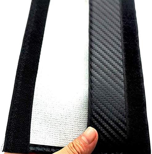 2 piezas de coches sefety cubierta de asiento del cinturón de Citroen DS DS4 DS5 DS4S DS6 DS7, transpirable fibra de carbono asiento de coche de la correa de ratón for adultos y niños, accesorios de l
