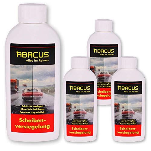 ABACUS Scheibenversiegelung Glasversiegelung Nanoversiegelung Regenabweiser mit Lotus-Effekt 4 x 250 ml (7003)