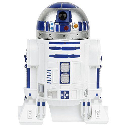 "Funko UGTSW35736 Star Wars R2-D2 Kitchen Timer, White, 8"" x 4.5\"" x 3.5"