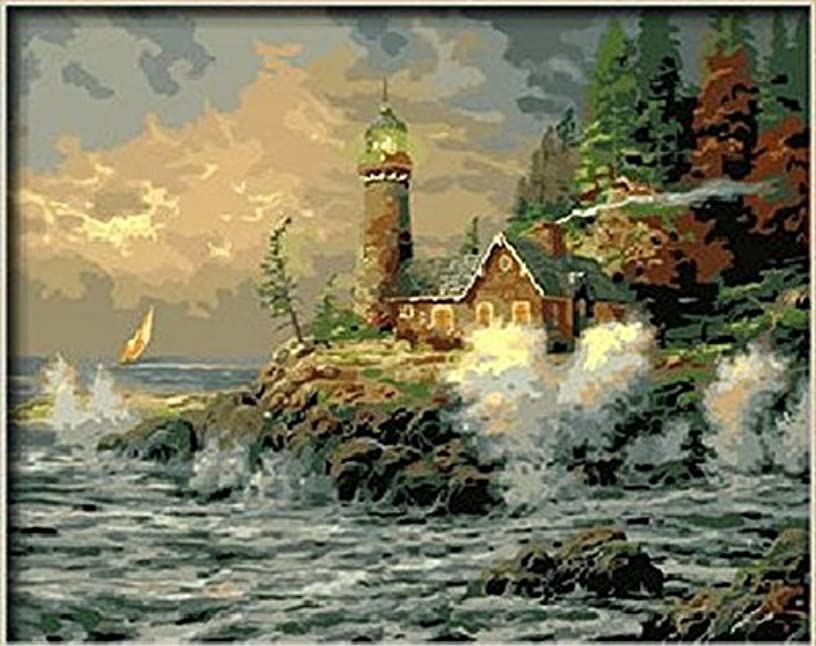 Dorara DIY Oil Painting Paint By Number Hand Paintworks 16×20 Inches Courage by Thomas Kinkade