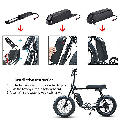 UNIT PACK POWER 36V 48V 52V ebike Battery 10-18AH Electric Bicycle Battery for 1500W/1200W/1000W/800W/500W bafang Motor with Charger