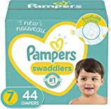 Diapers Size 7, 44 Count - Pampers Swaddlers...