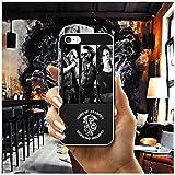 AOJIAN De los Hijos de la anarquía Suave Transparente del teléfono del TPU de la Cubierta de los Casos for iPhone 8 7 6 6S Plus X XR XS MAX 5 5S SE 5C 4 4S Shell Fundas