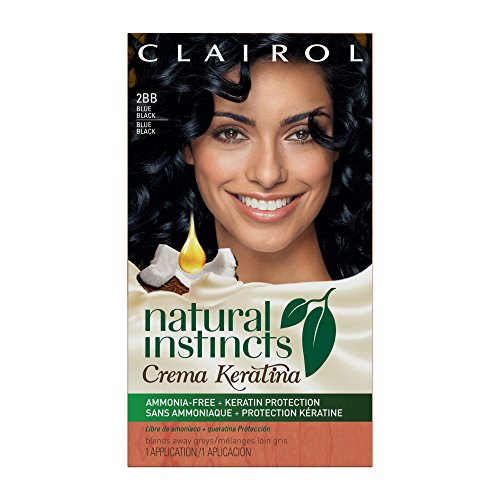 Clairol Natural Instincts Crema Keratina Hair Color Kit, Blue Black 2BB Blueberry Creme