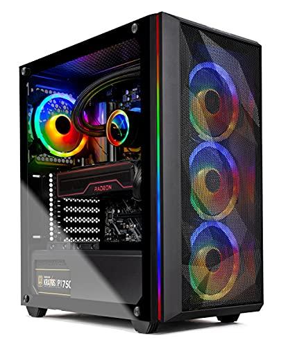 Skytech Chronos Gaming PC Desktop - AMD Ryzen 9 5900X 3.7GHz, 6700XT 12G GDDR6, 16GB DDR4 3200, 1TB NVMe SSD, 750W Gold PSU, 240MM AIO, AC WiFi, Windows 10 Home 64-bit, Black
