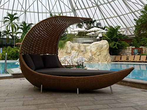 RATTANIA Relaxinsel Ruheinsel Cocoon, Sonneninsel polyrattan, Sonneninsel Rattan, Lounge Insel, Gartenmuschel, Terrassen Lounge, Lounge Insel, Lounge Muschel,RATTANIA Modell Cocoon 59-70310