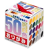 Origami-Papier, 50 Farben 7,0 cm, 1000 Blatt, Großpackung Nr. 001024