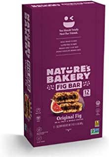 Nature's Bakery Whole Wheat Fig Bars, Original Fig, Vegan, Non-GMO, Packaging May Vary - 12 Count (Pack of 1)