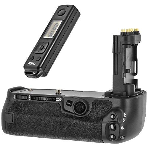 Impugnatura batteria grip compatibile con Canon 5D Mark 4 ricambio per BG-E20 + telecomando con frequenza radio a 2,4 GHz – MK-5D4 Pro – Meike
