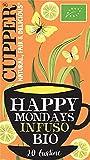 CUPPER Happy Mondays Infuso Biologico di Limone, Zenzero e Pepe Nero 20 bustine