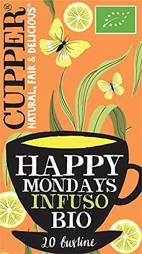 Cupper Tisana Biologica Happy Mondays (confezione da 20 bustine)