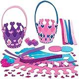 Kits de Cestas de Tejer Corona de Princesa Baker Ross AT999 (paquete de 4) para proyectos de arte y...